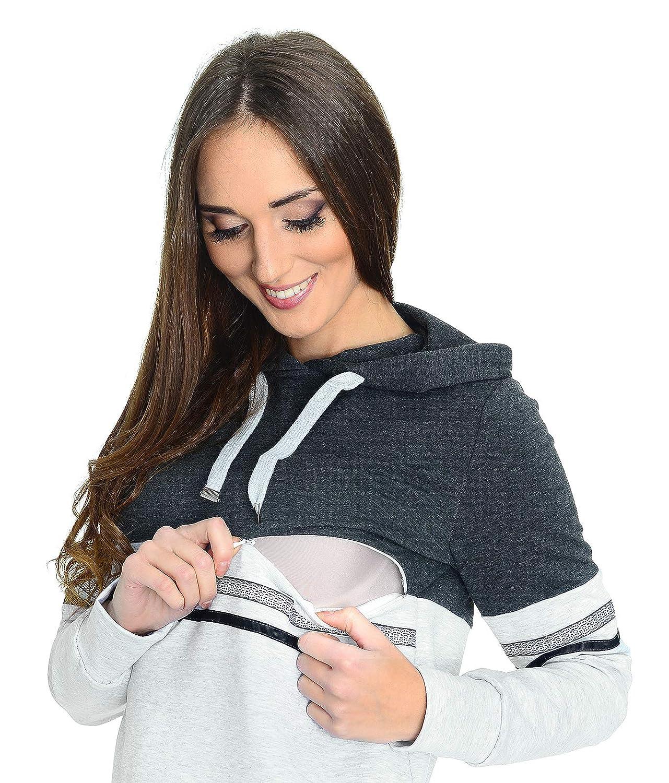 MijaCulture 3 in1 Casual Stillpullover /& Umstandspullover Still Sweatshirt 4111
