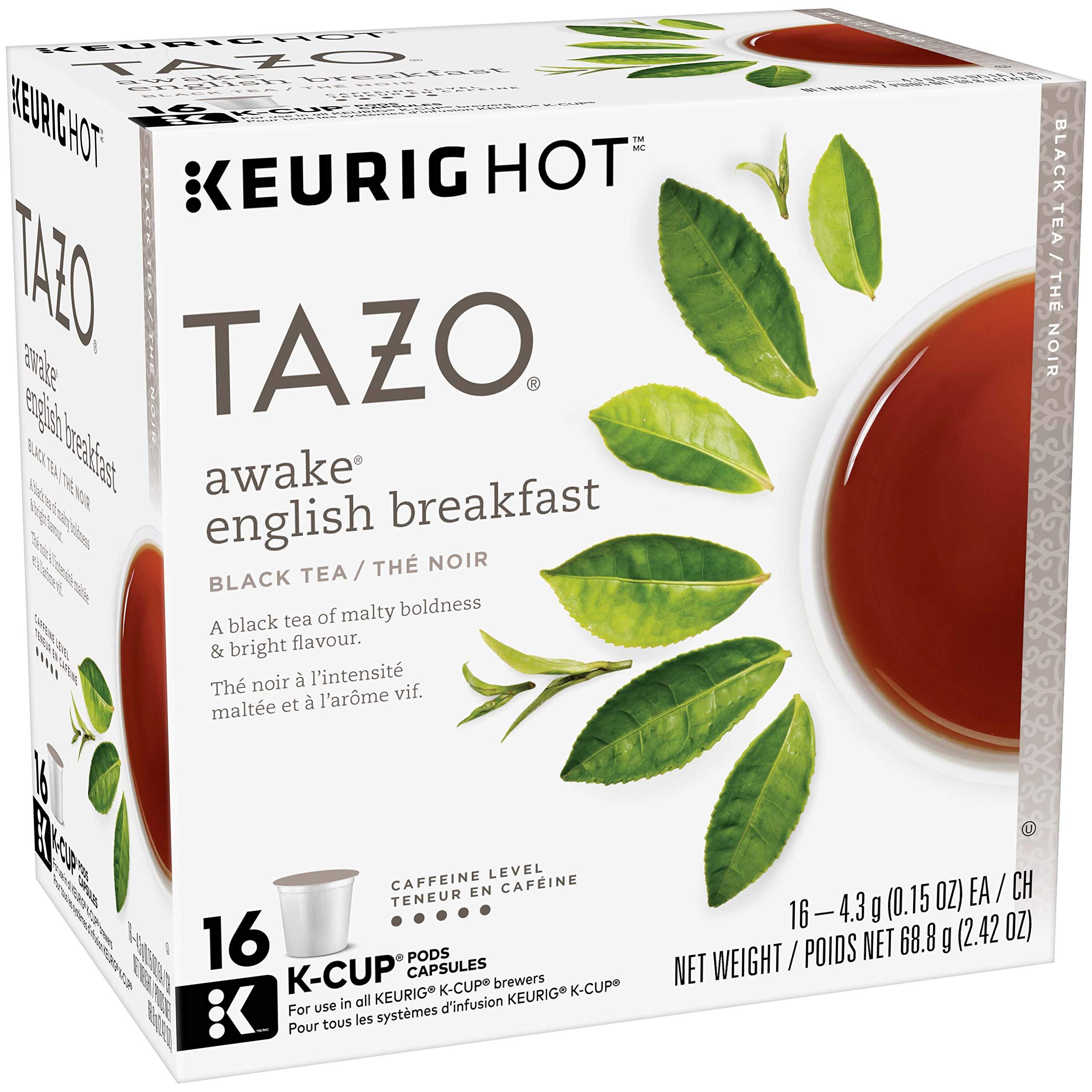 Tazo Awake English Breakfast Black Tea, K Cup, 16 count