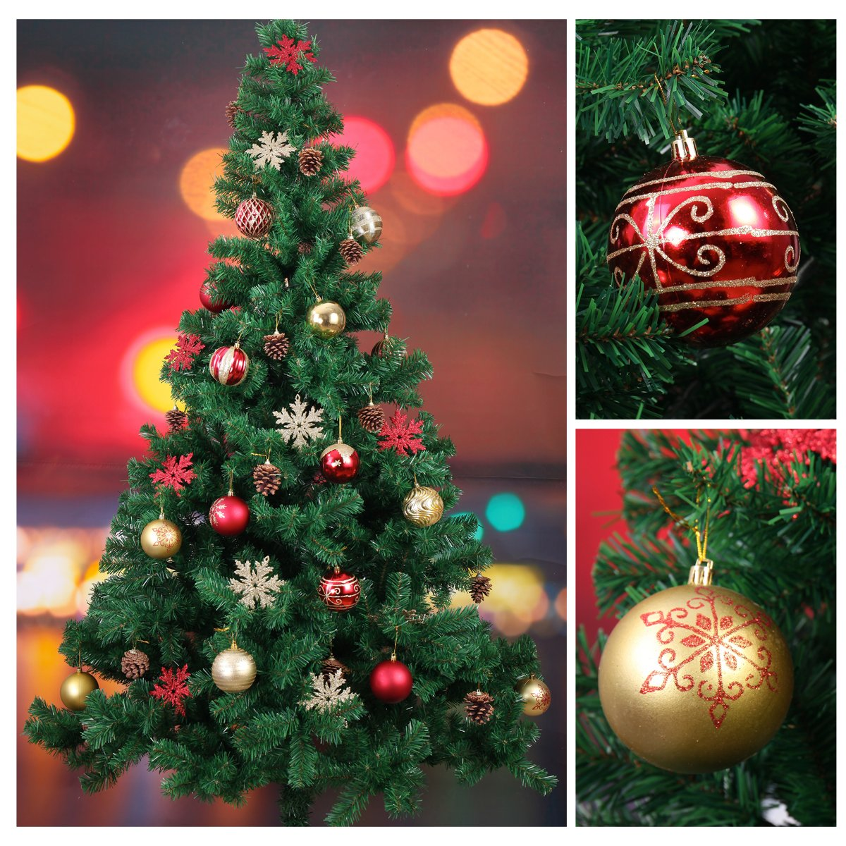Amazon.com: Joiedomi 25 Pack of Christmas Ball Ornaments Set for ...