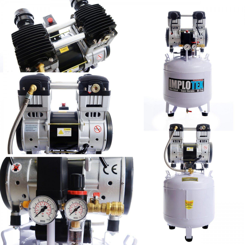 1500W 2PS fl/üster-Compresor de aire comprimido Compresor 60dB Silencioso sin aceite implotex