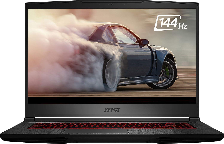 """MSI GL65 Leopard 10SFK-062 15.6"""" FHD 144Hz 3ms Thin Bezel Gaming Laptop Intel Core i7-10750H RTX2070 16GB 512GB NVMe SSD Win 10 (Renewed)"""