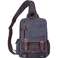 El-fmly Canvas Messenger Sling Bag Crossbody Shoulder Backpack Outdoor Sport Bag