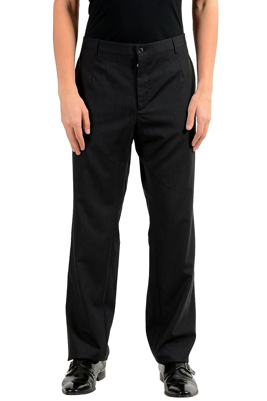 Dolce & Gabbana メンズ ウールのドレスパンツ B07821SLN2  木炭 US 40 IT 56