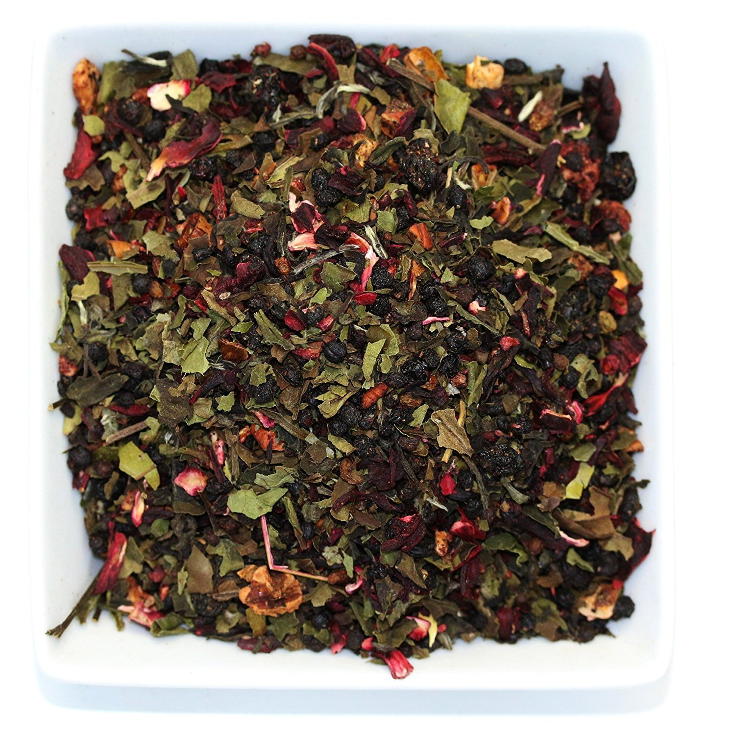 Tealyra - White Garden Bouquet - Fruity White Loose Leaf Tea Blend - Hibiscus - Strawberry - Raspberry - Antioxidants and Vitamines Rich - All Natural Ingredients - 110g (4-ounce) by Tealyra (Image #1)