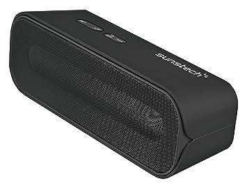 Sunstech SPUBT770BK - Altavoz estéreo con Bluetooth y micrófono (SD, USB, 6 W RMS) color negro