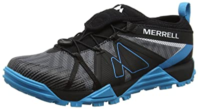 Merrell Avalaunch Mens Trail Running Shoes, Size 8.5 Blue