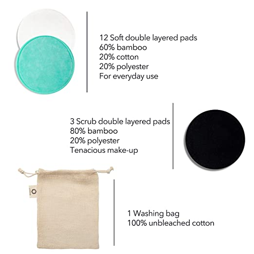 Amazon.com: Reusable Makeup Remover Pads   Zero Waste Eco ...