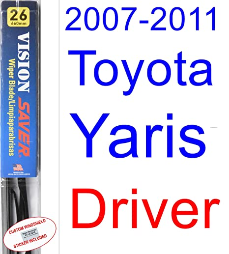2007-2011 Toyota Yaris Wiper Blade (Driver) (Saver Automotive Products-Vision Saver) (2008,2009,2010)