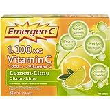 Emergen-C Lemon-Lime, 1000mg Vitamin C / Electrolytes / B Vitamins, 30 Packets/Sachets