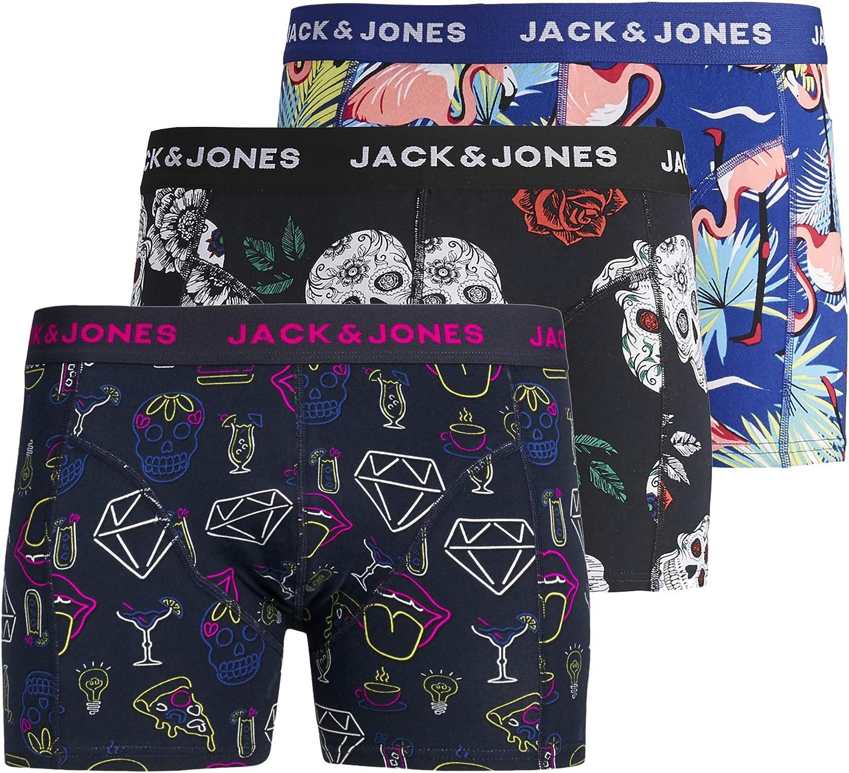 Jack & Jones - Calzoncillos tipo bóxer para hombre (3 unidades ...