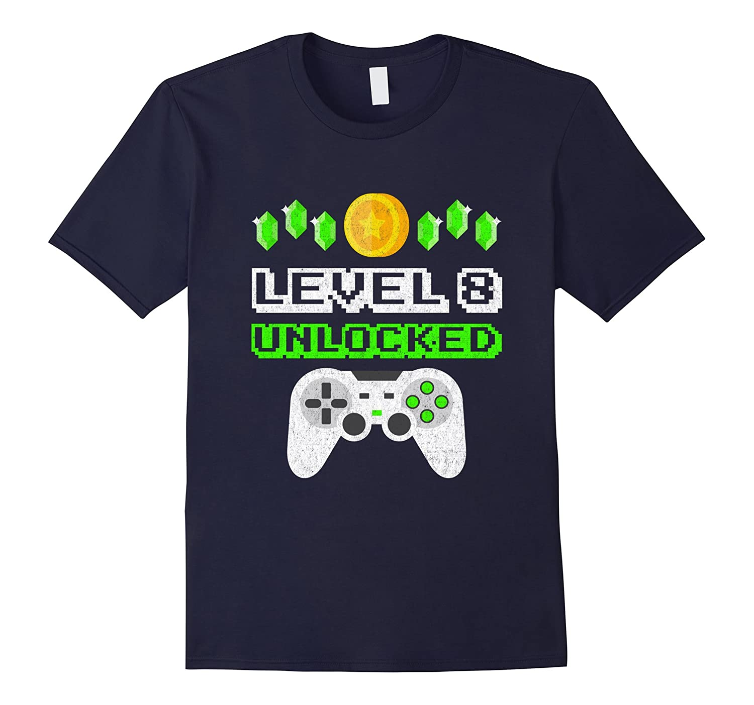 Level 8 Unlocked - Funny 8 Year Old Gamer Birthday T-Shirt-ah my shirt one gift