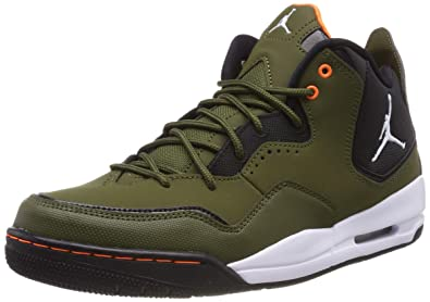 hot sale online e319b 98f76 Nike Men s Jordan Courtside 23 Basketball Shoes, Multicolour (Olive Canvas  White-Black