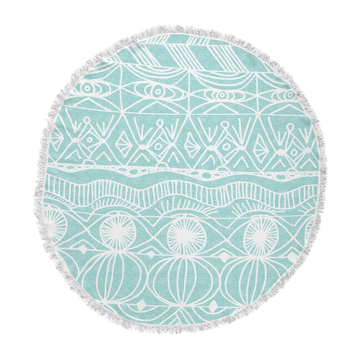 KESS InHouse Catherine Holcombe Bingo Round Beach Towel Blanket by Kess InHouse