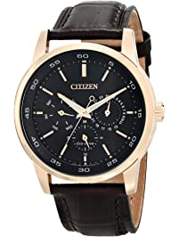 Citizen Men s Eco-Drive Rose Goldtone Multifunction Strap Watch 07977a559a43