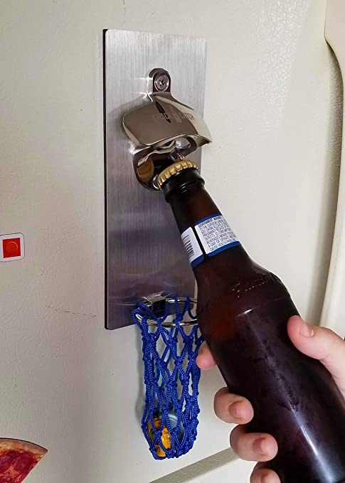2PCS Magnetic Portable Creative Refrigerator Magnetic Suction Beer Bottle Opener