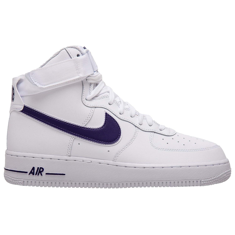 MultiCouleure (blanc blanc Court violet 103) 40.5 EU Nike Air Force 1 High '07 3, Chaussures de Basketball Homme