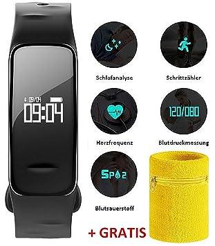 ATLANTA Fitness Tracker Pulsera con frecuencia cardíaca GPS ...