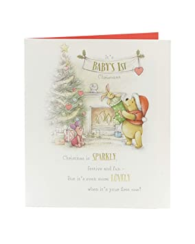 First Christmas Card.Babys First Christmas Card Christmas Gifts Christmas Gift Card Disney Christmas Disney Winnie The Pooh Special Baby