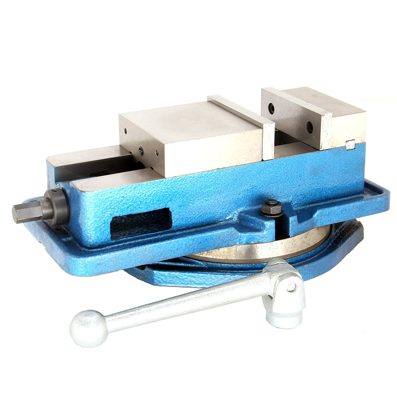 "5/"" Milling Machine Lockdown Vise Swivel Base Swivel Base Hardened Metal CNC"