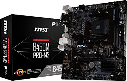 MSI B450M Pro-M2 - Placa Base (AM4, AMD B450, 1 x PCI-E 3.0 x16 ...