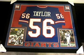 be25f5022 Image Unavailable. Image not available for. Color  Lawrence Taylor Signed  Giants 35x43 Custom Framed Jersey (JSA COA)