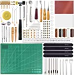 FEPITO 58 Pcs Leather Craft Tools Leather Working Tools Kit DIY
