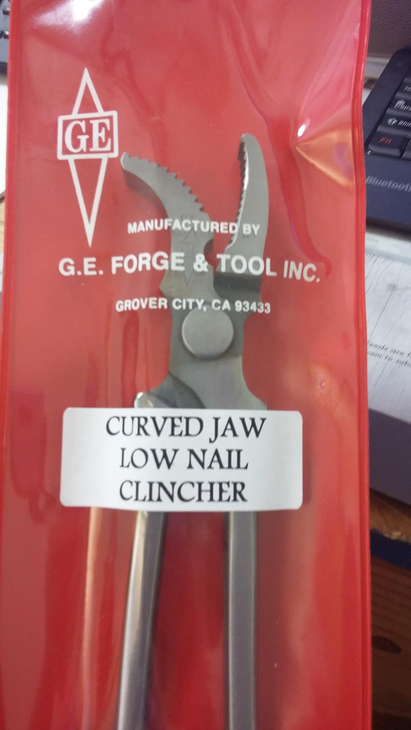 GE CURVED JAW LOW NAIL CLINCHER