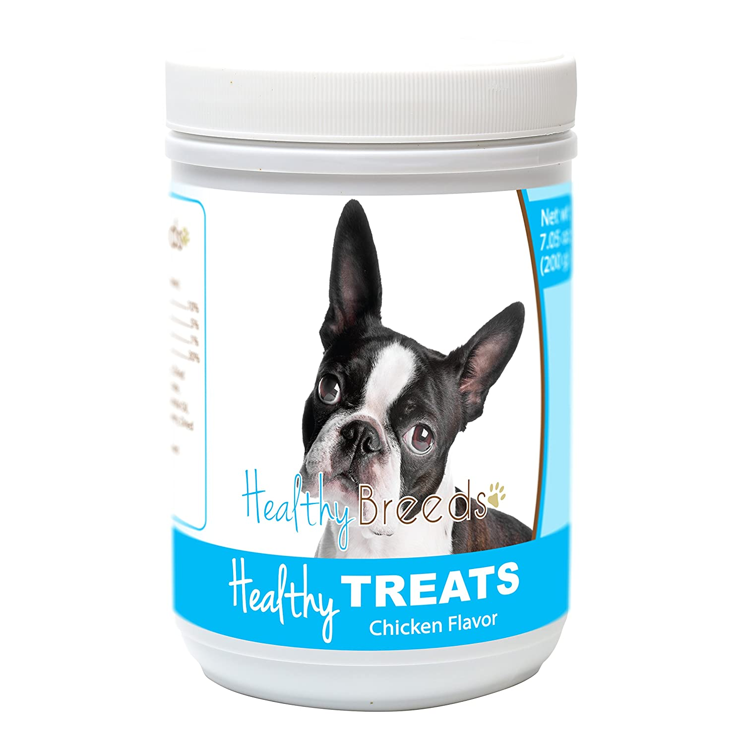 Healthy Soft Chewy Dog Treats for Boston Terrier - Over 80 Breeds - Tasty Flavored Snack - Small Medium or Large Pets - Training Reward - 7oz