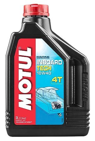 MOTUL 101751 Inboard Tech 4T 10 W-40 Aceite de Motor 2 L: Amazon.es: Coche y moto