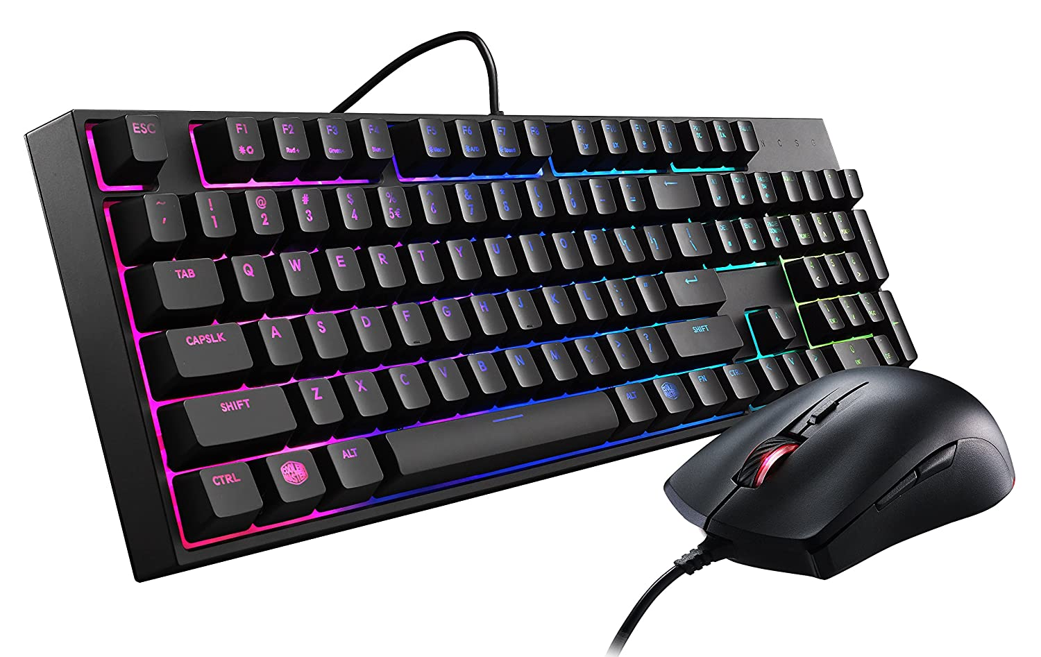 Cooler Master MasterKeys Lite L Combo RGB Keyboard and Mouse, RGB Mem-chanical Switches - Arabic/English - SGB-3040-KKMF1-AR