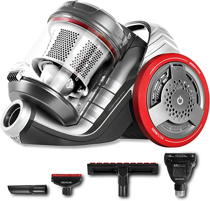Cecotec Conga EcoExtreme 3000 - Aspirador Trineo Ultra Silencioso, Máxima Potencia, Mínimo Consumo, Capacidad de 3,5 l, Filtro HEPA, Ligero y Manejable: Amazon.es: Hogar