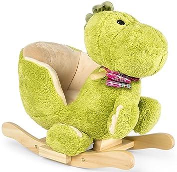 e5e6c2aacce603 Dino à Bascule En Peluche Douce, Pour Enfant, Bebe, Animaux, Dinosaur Cheval