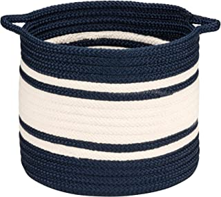 """product image for Colonial Mills Outland Basket, 14""""x14""""x12"""", Navy"""