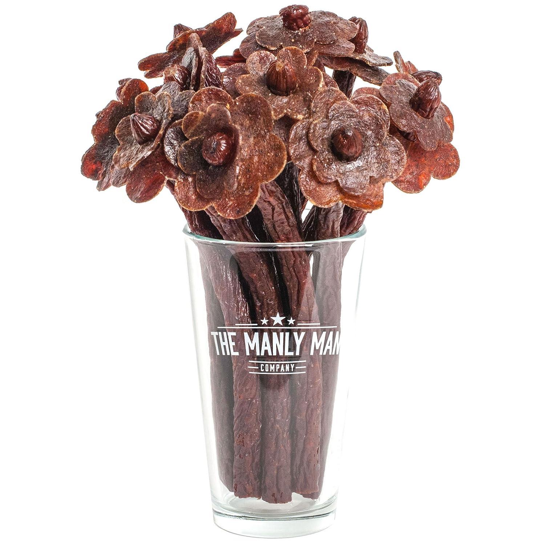 amazon com beef jerky flower bouquet original half dozen