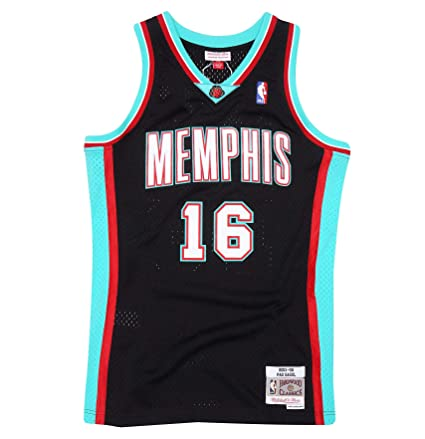 784a5d250da ... france mitchell ness pau gasol memphis grizzlies throwback swingman  jersey x small black dfe26 92e29
