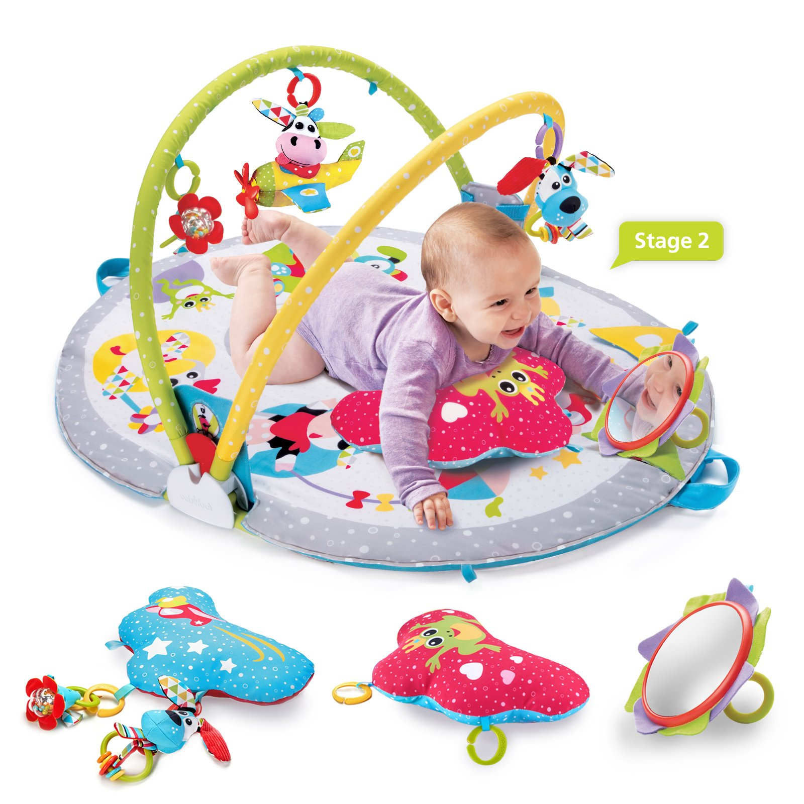 Yookidoo Gymotion Lay To Sit Up Play Mat Infant Activity