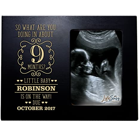 Amazon.com : Personalized New Baby Sonogram picture frame for boys ...