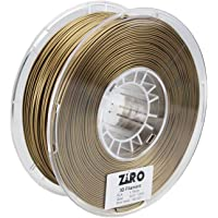 ZIRO 3D Printer Filament PLA 1.75 1KG(2.2lbs), Dimensional Accuracy +/- 0.05mm, Gold