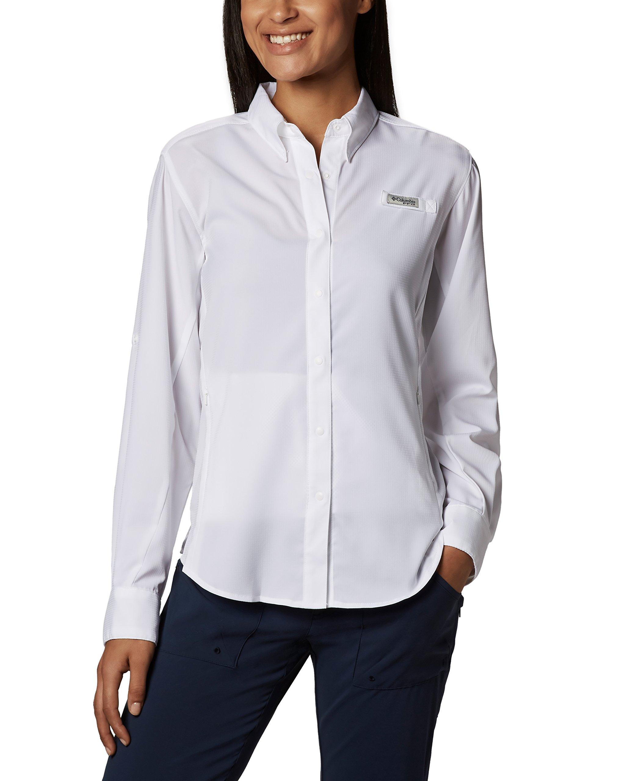 Columbia Women's Tamiami II Long Sleeve Shirt,White,3X