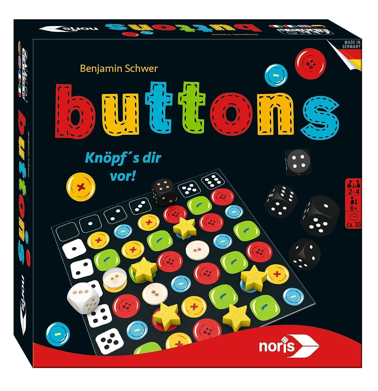Noris Spiele 606101435 - Buttons, Familienspiel