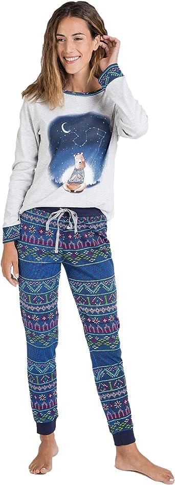 Massana Pijama de Mujer Estampado Oso P701200