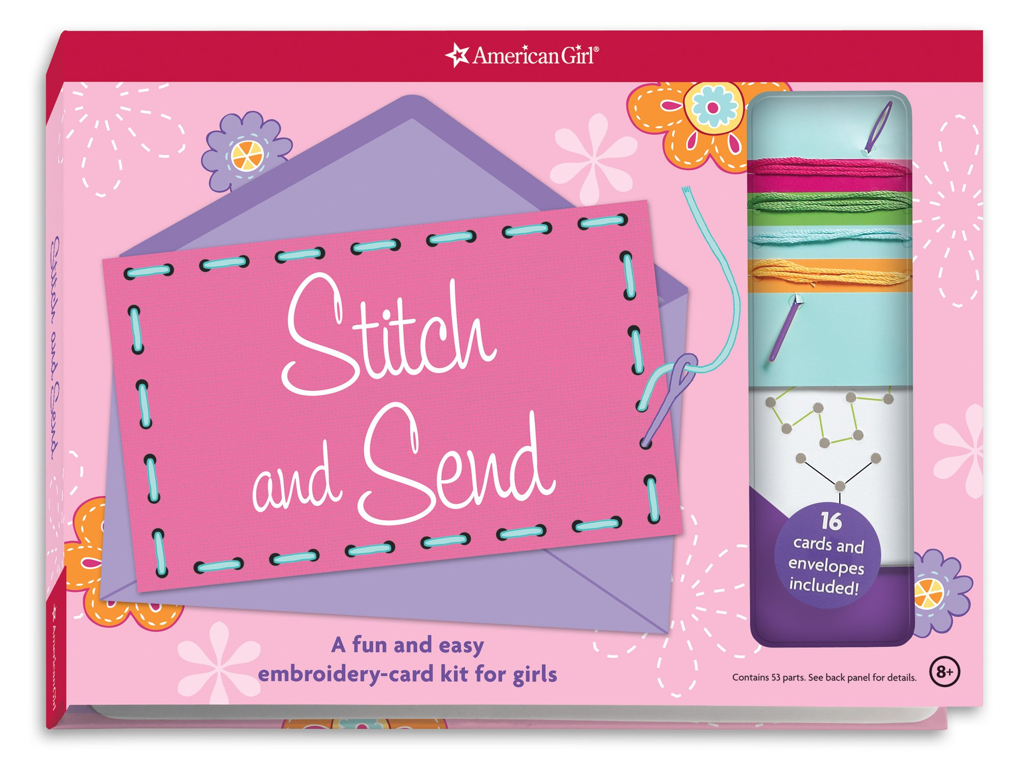 Read Online Stitch and Send: A fun and easy embroidery-card kit for girls PDF