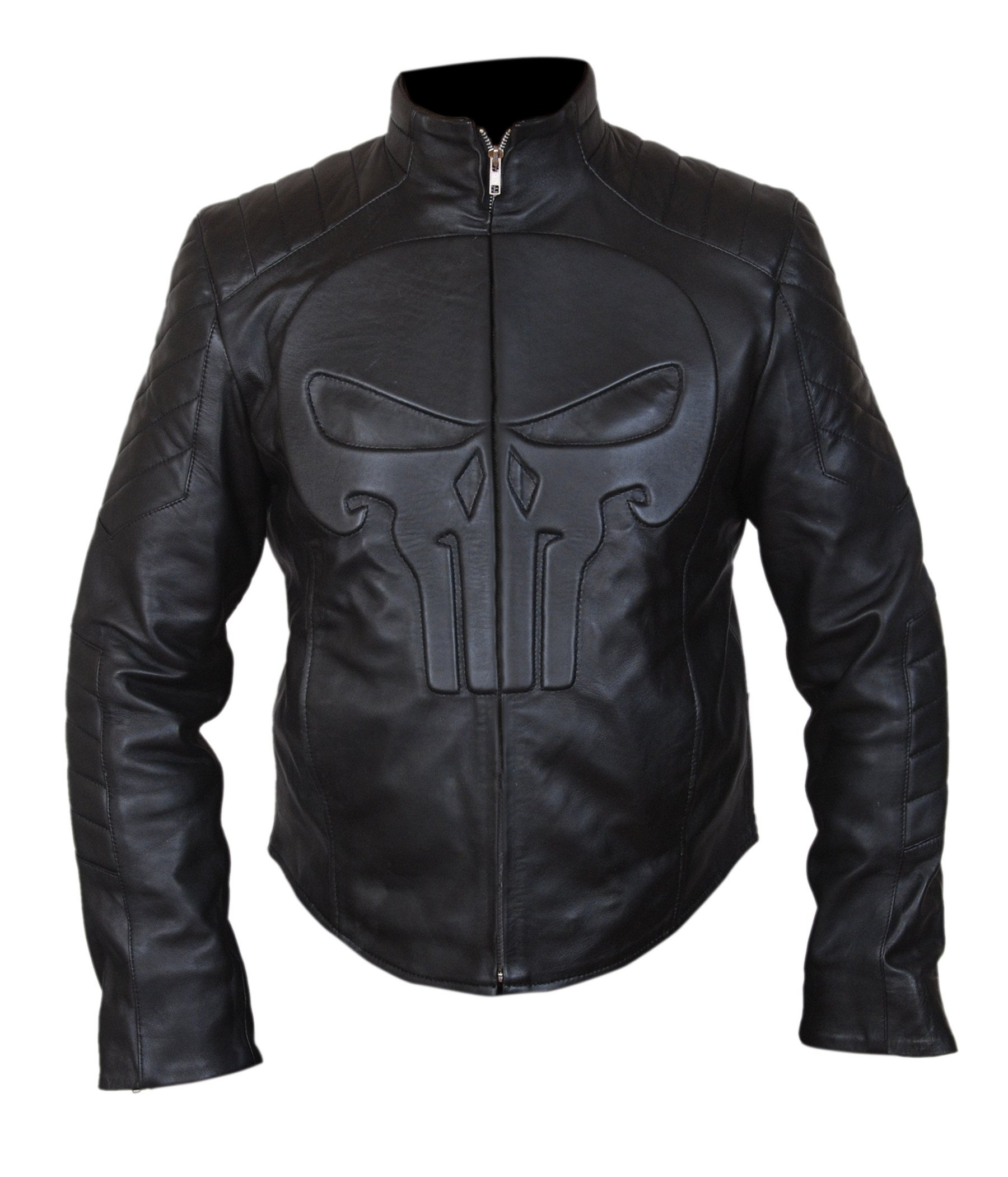 F&H Boy's Punisher Skull Biker Jacket M Black by Flesh & Hide
