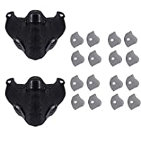 LDPF 2pcs Sports Face Respirator Mask with 16pcs Activated Carbon Filters