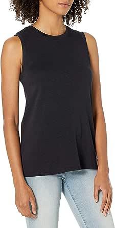 Daily Ritual Amazon Brand Women's Cotton Modal Stretch Slub Muscle-Sleeve