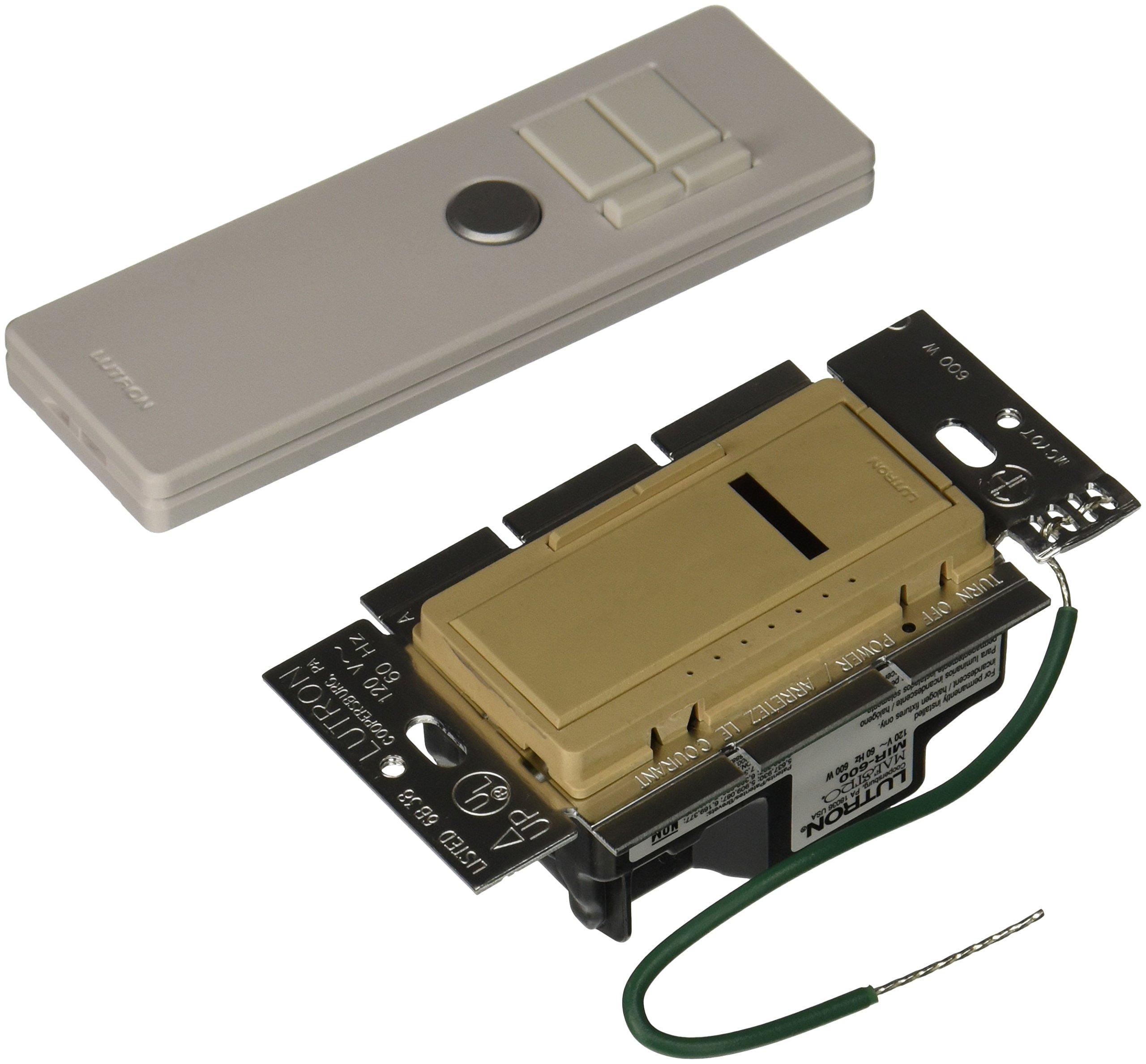 Lutron MIR-600T-DS Maestro IR 600-Watt Single-Pole Dimmer with IR Remote Control, Desert Stone