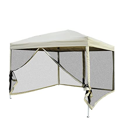 Outsunny Easy Pop Up Canopy Tent with Mesh Side Walls 10-Feet x 10  sc 1 st  Amazon.com & Amazon.com : Outsunny Easy Pop Up Canopy Tent with Mesh Side Walls ...