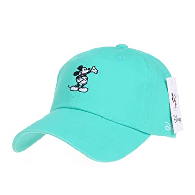 15bdc093ef4f6 WITHMOONS Disney Mickey Mouse Embroidery Baseball Cap CR1283 (Green ...