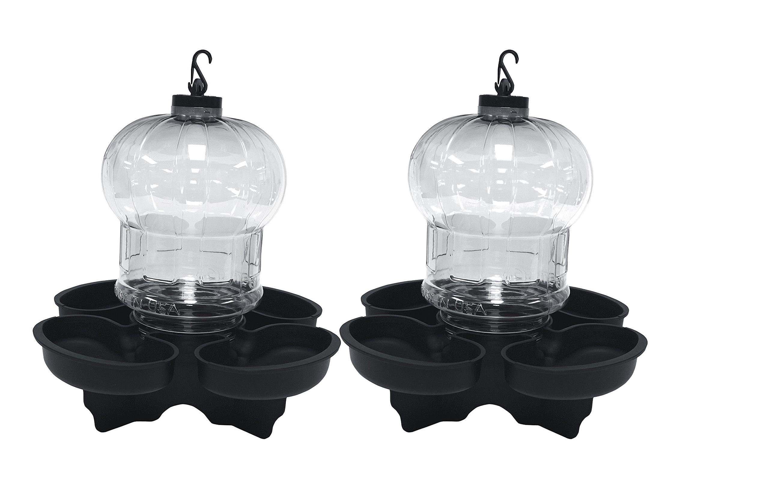 First Nature 2 Pack Clear Globe Style Bird Bath and Waterer