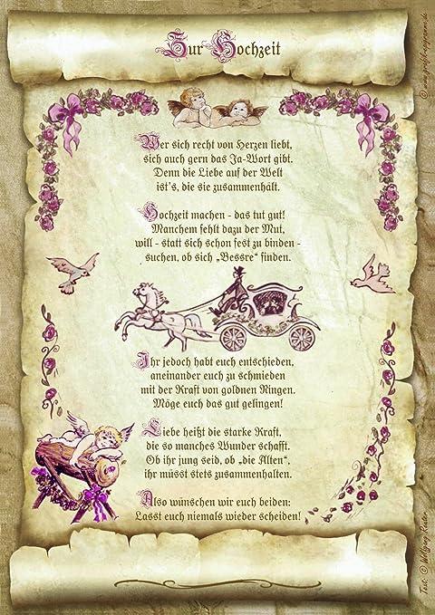 Gedicht Heiratsantrag Hochzeit Urkunde Geschenk Präsent